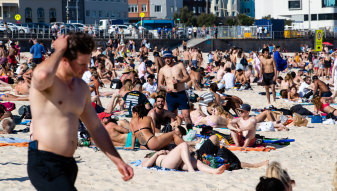 Where's the bar? Bondi Beach this week.