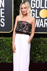 Margot Robbie at this year's Golden Globe awards.