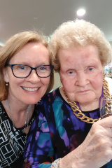 Carolyn Vaughan with her late mother.