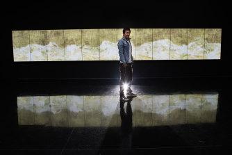 Japanese artist Toshiyuki Inoko from teamLab at Tolarno Galleries.