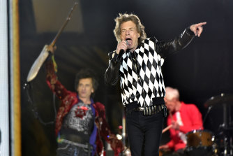 Ron Wood (left) and Mick Jagger, of The Rolling Stones perform in Chicago in 2019.