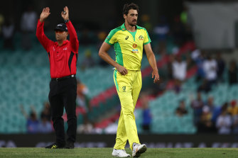 Australian fast bowler Mitchell Starc has withdrawn from the remainder of theT20I series after being informed of an illness in his family.