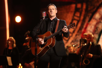 Sturgill Simpson performs at the Grammy Awards ceremony in February 2017.