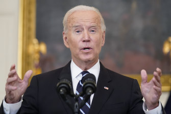 """President Joe Biden has said his infrastructure plan is how the US will """"win the future""""."""
