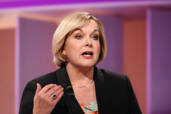 NZ National leader Judith Collins speaks during  the TVNZ live leaders' debate on September 22.