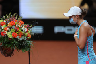 Barty came back from a set down to win.