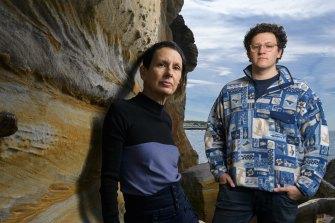 Artists Marina DeBris and Joel Adler.