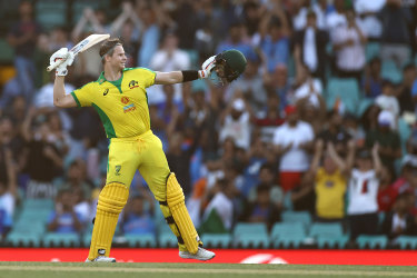 Smith, Finch score centuries as Aussies set mammoth task for India in first ODI