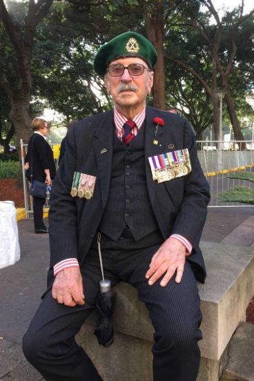 Colonel John Hutcheson in Hyde Park on Saturday.