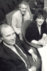 Tony Windsor, Peter McDonald and Clover Moore in 1991.