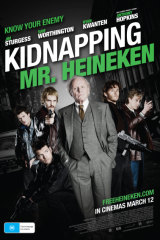 A poster for the film 'Kidnapping Mr Heineken'.