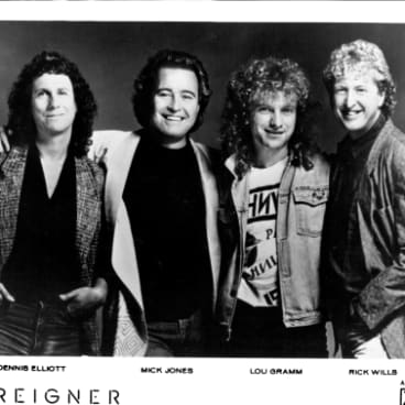 Dennis Elliott, Mick Jones, Lou Gramm, Rick Wills - Foreigner. September 16, 1988.
