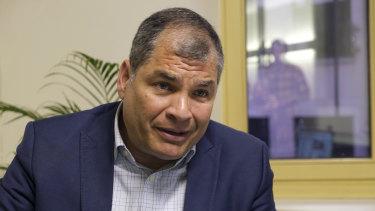 Former President of Ecuador Rafael Correa.