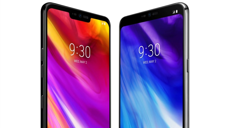 If you like you can hide the notch entirely, but it's only guaranteed to work on the home and lock screens and LG's own apps.