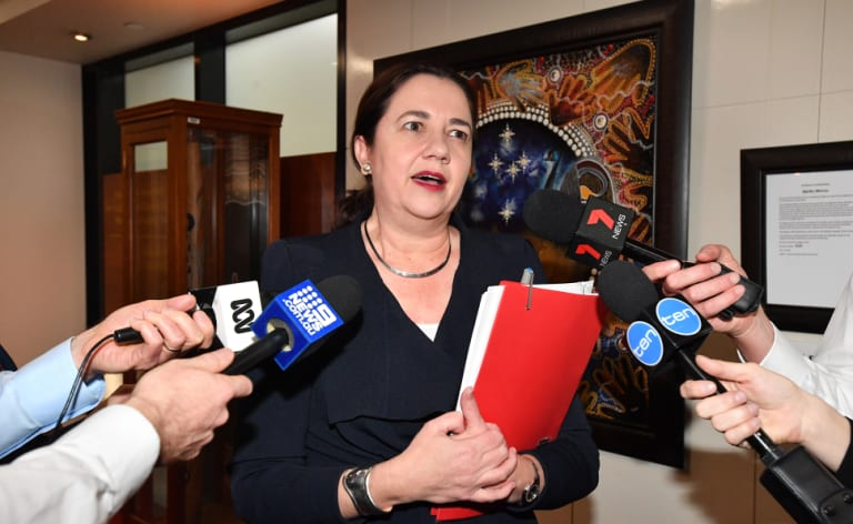 Premier annastacia Palaszczuk announces a $9 million drought funding package to regional Queensland.