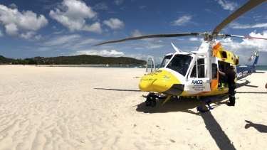 The RACQ Capricorn Helicopter Rescue Service was tasked to Great Keppel Island after a man was stabbed by a stingray barb.