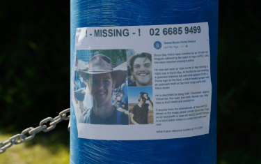 The original poster from when Theo Hayez went missing two weeks ago.