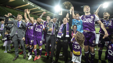 End of an era: Despite winning the A-League premiership, QBE Insurance have opted not to renew their long-running partnership with Perth Glory.