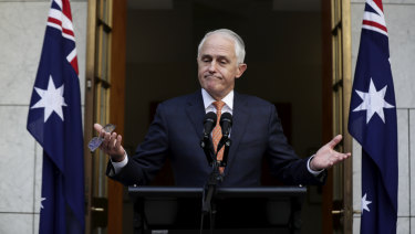 Malcolm Turnbull addresses the media after being removed from office by his party.