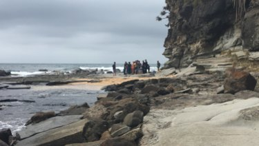 A teenage boy was rescued after falling off a cliff at Moffat Beach on Wednesday.