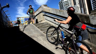A lack of ramp access at the bridge's north end has long frustrated cyclists.