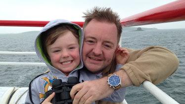 Lee Moran with his son Brodie.