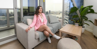 24-year-old Esmé James is keen to claim her own part of Melbourne's CBD while apartment  prices stay low.