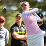 Nelly Korda from the USA in action  on day three of the Women's Australian Open.