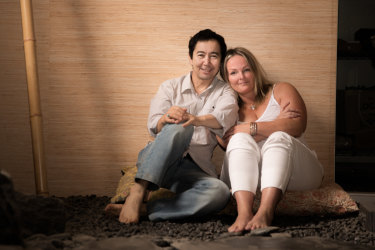 """Jafar Yawari and Natalie Le Sueur: """"He has taught me to see life as sacred and to enjoy the simple things."""""""