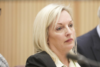 """Former Australia Post chief executive Christine Holgate claims in a Senate submission she is being """"hung"""" for """"rewarding four outstanding executives for delivering a landmark agreement, which saved many community post offices""""."""