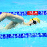 Mack Horton competing in the 400m Freestyle Final at the FINA World Swimming Championships.