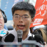 The face of Hong Kong's democracy movement is released and joins the new protest
