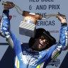 Miller third as Rins wins Americas MotoGP