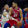Stop the presses: Ben Simmons sinks a three-pointer