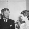 Le Collier De Barbe de M. Jean de Montousse with his secretary, Miss Helen Buckley.