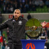 City coach suffers head knock amid Premiers Plate victory celebrations