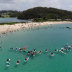 As many as 400 people joined a so-called paddle-out to support the reinstatement of marine sanctuaries in the Batemans Bay area. In late December 2019, the Berejiklian government lifted bans on recreational fishing for six marine parks in the region.