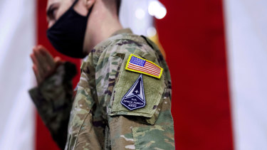 A US Space Force Guardian emblem.