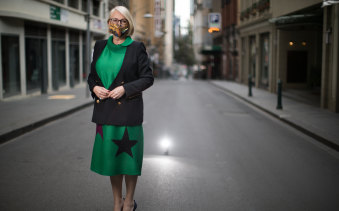 Lord mayor Sally Capp hopes visitors will soon return to the deserted streets of Melbourne.