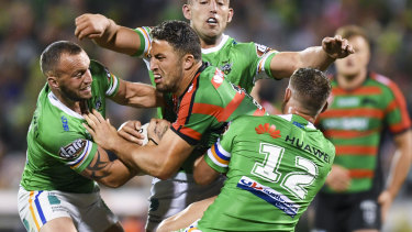 Sam Burgess in the last game of football he will ever play: the 2019 NRL preliminary final against Canberra.