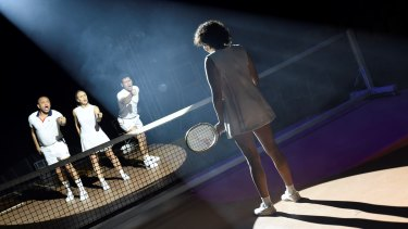 Sunshine Super Girl' turns the Town Hall into a tennis court to chart the story of Evonne Goolagong.