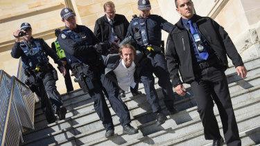 Ewan Buckley got arrested on purpose last Thursday.
