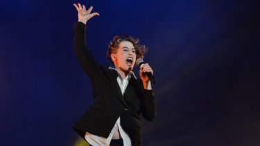 Amanda Palmer presented a four-hour, wincingly personal show.