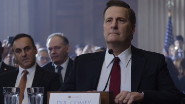 Jeff Daniels plays FBI director James Comey in the two-part miniseries The Comey Rule.