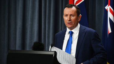 WA Premier Mark McGowan announced restrictions would ease for Victorians from Saturday.