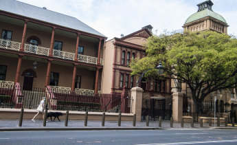 The NSW Legislative Council - the most southern part of NSW Parliament on Macquarie Street Sydney - is one of only 17 surviving portable buildings that were shipped to Australia in the 19th century. A bargain, it was clad in corrugated iron and the facade is cast iron but looks like sandstone.