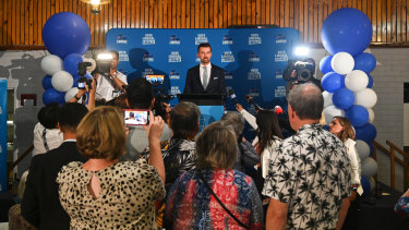 Opposition Leader Zak Kirkup concedes defeat to Mark McGowan in the 2021 state election.