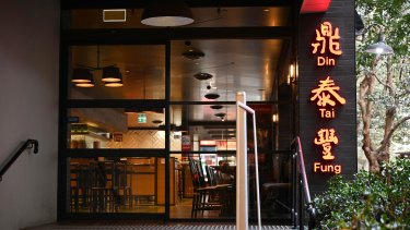 The Din Tai Fung in Chatswood, Sydney, one of three where workers were allegedly underpaid.
