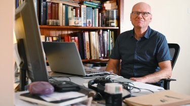 Stan Obirek, 59, has an IT background but after being made redundant has retrained in cybersecurity.