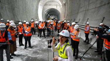 Premier Gladys Berejiklian said the metro project had created thousands of jobs.